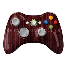 XBOX 360 controller Wireless Glossy WTP-251-Cranberry-Straight-Grain Custom Painted- Without Mods
