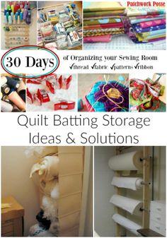Quilt Batting Storage