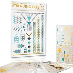 Temporary Tattoos Metallic Gold