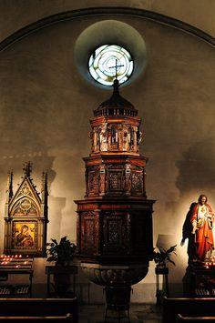 Fonds baptismaux, cathédrale Notre-Dame du Glarier, Sion, canton du Valais, Suisse. #Sion