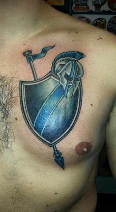 Cop Tattoos, Warrior Tattoos, Tatoos, Police Tattoo, Archangel Tattoo, Army Style, Cool Tats, Tattoo Life, Chest Tattoo