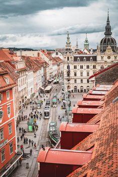 Austria Travel, France Travel, Travel Europe, Places To Travel, Places To Visit, Graz Austria, City Landscape, Urban Landscape, Visit France