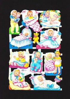 Scrapbook Images, Vintage Scrapbook, Die Cut, Baby Cartoon, Artist Trading Cards, Happy Animals, Retro Toys, Free Prints, Clay Projects