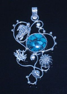 Jewelry Designer Blog. Jewelry by Natalia Khon: Gallery of sold ooak jewelry. Turquoise pendant