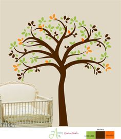 Baby Tree  Wall Decal Large tree great for by ishandmadecreations, $76.00