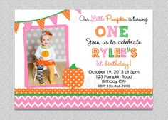 Pumpkin Birthday Party Invitation