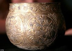 Viking silver cup from the treasure in York, 927 AD