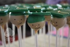 graduation cake pops...for our senior's life group!  I should do this each year on our last night.