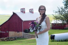 Rustic Farm Wedding. The barn makes a beautiful background Photo courtesy of Brittany Peiffer Photos