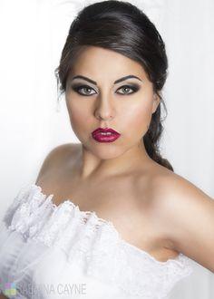 Sultry Latin Bride makeup www.sabrinacayne.com www.facebook.com/sabrinacaynemakeup MUA/Hair/Photo: Sabrina Cayne