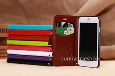New FLIP LEATHER Case wallet stand Cover card slot FOR APPLE IPHONE 6 PLUS 5.5""