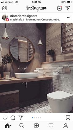 Fascinating bathroom design decor ideas refresh your mind Beautiful Bathrooms, Modern Bathroom, Small Bathroom, Downstairs Bathroom, Bathroom Renos, Bad Inspiration, Bathroom Inspiration, Bathroom Interior Design, Home Deco