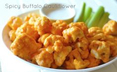 Total 10 Crispy Spicy Buffalo Cauliflower is a healthy and crispy snack that you can have when you are on Dr. Oz's Total 10 Rapid diet plan. Get full recipe here: http://dr-oz.com/dr-ozs-total-10-crispy-spicy-buffalo-cauliflower-recipe