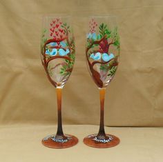 1000 images about hand painted wine glass on pinterest for Type of paint to use on wine glasses