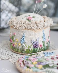 Wonderful Ribbon Embroidery Flowers by Hand Ideas. Enchanting Ribbon Embroidery Flowers by Hand Ideas. Embroidery Designs, Dmc Embroidery Floss, Hand Embroidery Stitches, Silk Ribbon Embroidery, Cross Stitch Embroidery, Cushion Embroidery, Embroidered Cushions, Flower Embroidery, Embroidery Kits