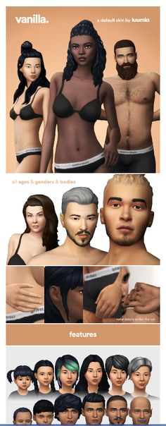 Vanilla Skin - A default Skin by luumiasims via com Sims 4 Pets, Sims 3, Sims 4 Mm Cc, Sims Mods, Sims 4 Mods Clothes, Sims 4 Challenges, The Sims 4 Skin, Sims 4 Cc Eyes, Sims 4 Collections