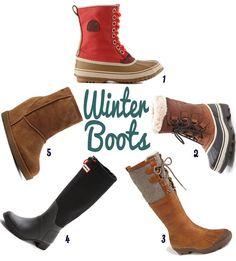 1. Sorel 1964 Premium Snow Boot2. Sorel Caribou Boots 3. UGG Australia 'Belcloud' Boot4. Hunter Original Tour Canvas Tall Boots 5.Zigi Girl Kick It Up Wedge Bootie Now that winter h…
