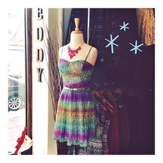 Another colorful new dress ($88) in stores now!