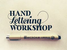 Hand Lettering Workshop by Sean McCabe. I love that the L goes into the H and the g is tucked into the H