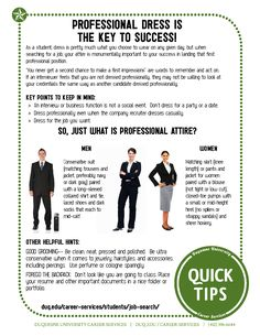 Professional Dress is the Key to Success!