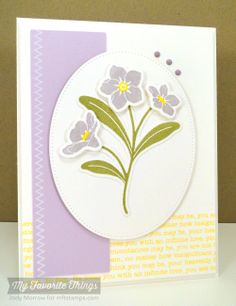 Forget Me Not, Hearts and Stitches, Forget Me Not Die-namics, Pierced Oval STAX Die-namics - Jody Morrow #mftstamps