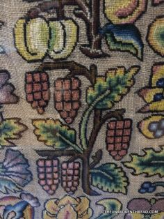 EMBROIDERY AT TRAQUAIR HOUSE, Scotland