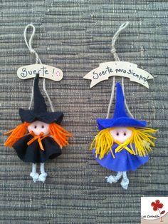 Moldes Halloween, Adornos Halloween, Easy Halloween, Halloween Crafts, Halloween Decorations, Projects For Kids, Art Projects, Christmas Angel Crafts, Felt Ornaments