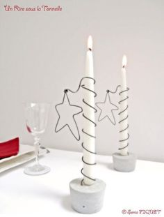 Candle Holder Star Wire & Concrete by UnRiresouslaTonnelle Candle Holder Star Wire & Concrete by UnRiresouslaTonnelle The post Candle Holder Star Wire & Concrete by UnRiresouslaTonnelle appeared first on Beton Diy. Concrete Candle Holders, Diy Candle Holders, Diy Candles, Noel Christmas, Christmas Crafts, Christmas Decorations, Xmas, Christmas Ornaments, Wire Crafts