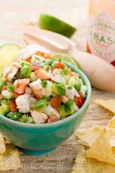 A Skinny Shrimp Avocado Salsa Recipe. This stuff is so addictive. Our favorite salsa! The avocados take this shrimp avocado salsa way over the top!