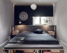 Dom w stylu skandynawskim - Mała sypialnia małżeńska, styl skandynawski - zdjęcie od formativ. kasia i michał dudko