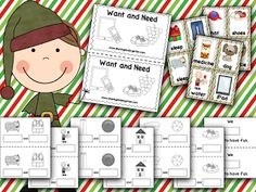 Are you teaching WANTS AND NEEDS soon? Grab this print and play pack to make it easy to Print... and play to learn all about wants & needs.#kindergarten #lessonplans #teaching #printables