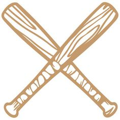 Softball Bats Crossed Clipart Clipart Kid Silhouette