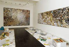 Tomoko Takahashi —  Tomoko Takahashi  Abstract No 1 & Abstract             No 2, 2007  Installation at Hales Gallery