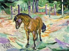 Edvard Munch - Horse in a Landscape