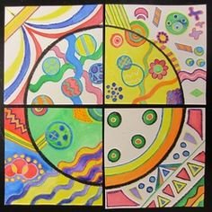 """September 15th is international dot day so the 3rd graders are creating artwork inspired by a lovely book called """"The Dot."""" Each third…"""