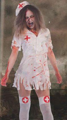 Disfraz chica sexy Enfermera Zombie