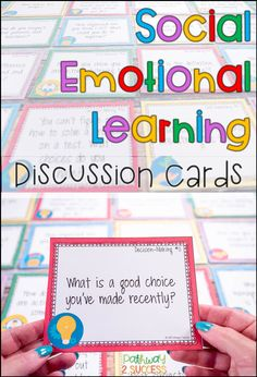 Social Emotional Learning Task Cards Social Emotional Learning Task Cards,Behavior Related posts:Lakeshore Feelings & Emotions Dough Mats - EducationThe Social Skills Challenge: Enforcing Target Skills in Speech Elementary Counseling, Counseling Activities, School Counselor, Learning Activities, Elementary Schools, Therapy Activities, Social Emotional Activities, Emotional Support Classroom, Emotional Kids