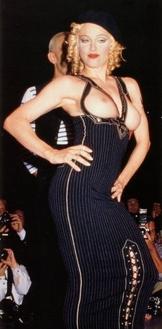 Madonna at the Jean Paul Gaultier AIDS Benefit gala show in Los Angeles, 1992