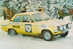 '72 KAK-Rallyt, Opel Ascona A - Anders Kullang & Donald Karlsson, 4e
