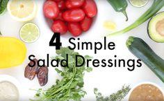 4 Easy Salad Dressings