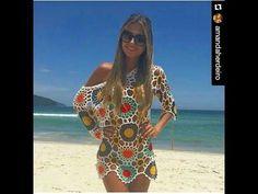 Valdenice Lopes shared a video Crochet Blouse, Knit Dress, Crochet Top, Crochet Girls, Crochet Woman, Swimsuit Cover Up Dress, Bikinis Crochet, Freeform Crochet, Crochet Videos