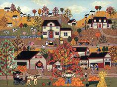 Charles Wysocki ~ The Pumpkin Festival--Medana Gabbard Gallery