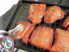 This Recipe for Maple Smoked Salmon is to die for! The Bradley Smoker allows precise timing and temperature control throughout the smoking process for excellent results. Check out our great selection of smokers at http://www.wellscan.ca/Bradley-Smokers/