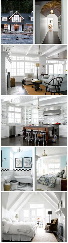 @Jenn L Milsaps Busby...was stalking your board for your new place so thought of you when I saw this.  White kitchens are delish!