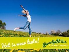 Het is weer lente! Geniet van dit mooie seizoen! #lente #voorjaar #BoostyBites #happiness