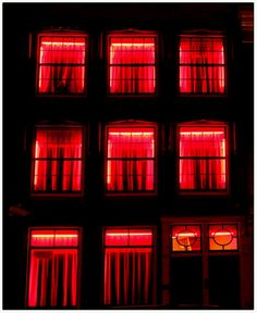 Amsterdam - red light district. If you feel comfortable, we can walk through the neighborhood.