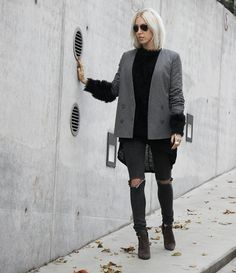 Topshop Blazer #topshop #andotherstories #zign #grey #look #streetstyle #outfit #fall #inspiration #stylediary #blogger