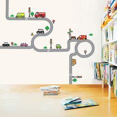 decowall-muurstickers-road-and-cars