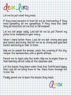 technology rocks. seriously.: A Prayer for the First Day of School FREE Printable