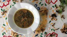 Jáhlová polévka s houbami